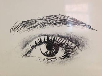 Whiteboard eye by Noxe-ApplePi