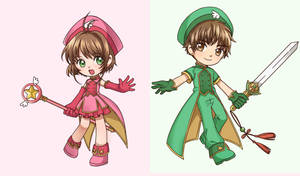 Sakura and Syaoran by Unknown-Amelia