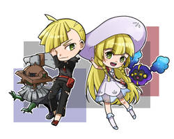 Gladion and Lillie by Unknown-Amelia