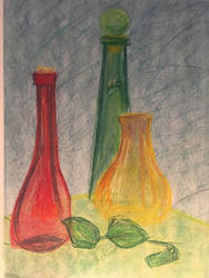 Still Life of bottles by AbunchOfHooplah