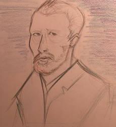 Vincent Van Gogh Sketch by AbunchOfHooplah