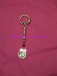 porte cles skull kawai by saliadeesse