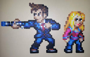 Perler - The Doctor and Rose by IAmArkain