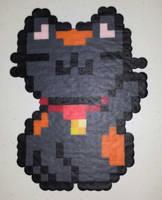 Black Maneki Neko by IAmArkain
