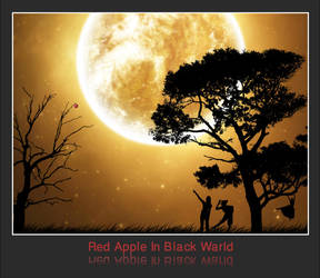 Red apple In Black Warld by specialhussein