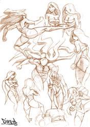 Malice sketch dump 01 by HIIVolt-07