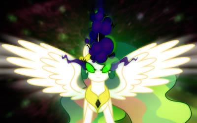 [MLP Season 3] Wallpaper - Celestia's Dark Magic by MatrixChicken