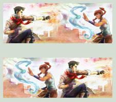 Avatar Korra and Mako by nillia