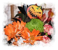 Halloween Flowers by LoloAlien