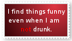 Not drunk Stamp by No2Spenncil