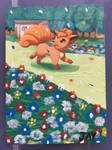 Vulpix card extended paint by DarkElite020