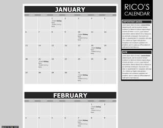 2013 Calendar Template by Recite