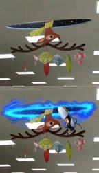 Portal Christmas Deer by HuggleMistress