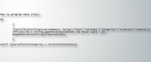Journalistic Pseudocode by William-John-Holly