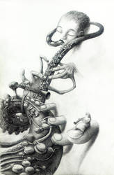 clarinet player by J4K0644061x