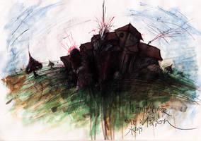 La Tristesse,Noir,une Maison by J4K0644061x
