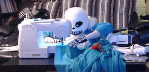 Undertale Sans Cosplay (Sewing something special) by TheBeastInBeauty