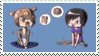 Dan and Phil - Stamp by NightGlitch