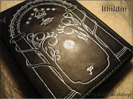 Leather note book Ithildin (inspired Moria, LOTR) by Svetliy-Sudar
