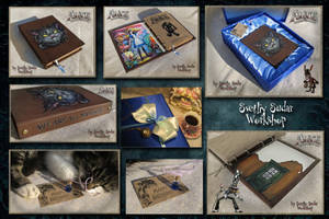 Leather notebook Alice - Madness Returns by Svetliy-Sudar