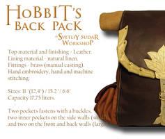 Hobbit's leather back pack(inspired Bilbo Baggins) by Svetliy-Sudar