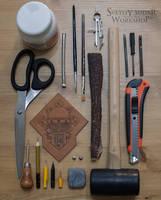 Leather notebook Iron Warriors WIP by Svetliy-Sudar