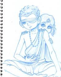 Neel and Manu as kids by minkz10