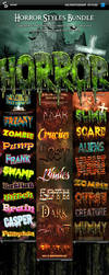 Horror and Halloween Styles Bundle - Text effects by PeterSaoSzabo