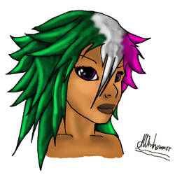 Female face by d00mhammer