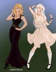 Bowsette and Boosette by NightmareOnElmStFan