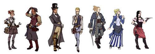 Cedaria:Blackout - NPC sketches by Umerean