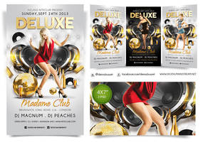 Deluxe Nightclub Flyer Template by dennybusyet