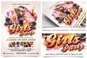 Girls Party Nightclub Flyer Template by dennybusyet