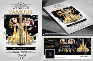 Young Rich And Famous Flyer Template Psd File by dennybusyet