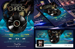 Systematic Chaos Nightclub Flyer Template Psd File by dennybusyet