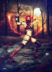Skarlet Mortal Kombat 9 by dennybusyet