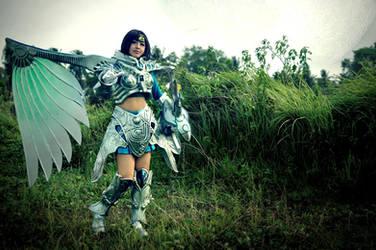 white silver dragoon by oruntia