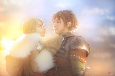 How To Train Your Dragon 2 : Astrid and Hiccup by oruntia