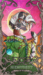 Tarot Zecora Hierophant by SourSketches