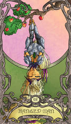 Tarot Hanged Man Applejack by SourSketches