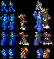 Mega Man and Bass PixelArt by Pixelated-Dude