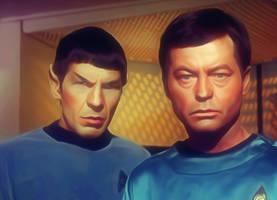 Mr Spock and Dr. Leonard H. Bones-McCoy by petnick