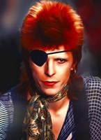 David Bowie Ziggy Stardust era by petnick