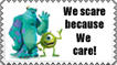 We Scare because We care Stamp by Tadadada