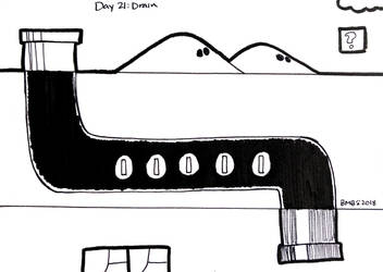 Inktober Day 21: Drain by Britno