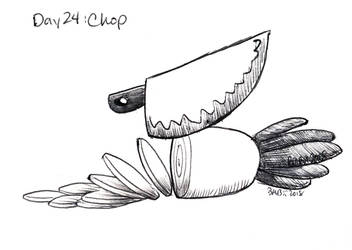 Inktober Day 24: Chop by Britno
