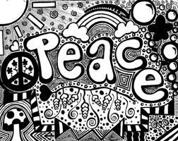 Peace Doodle by Kacedilla