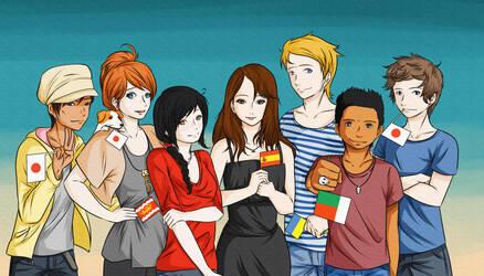 My dear friends by Zearth95