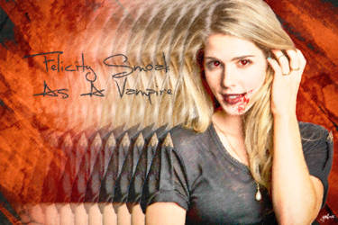 Felicity Smoak As A vampire by yunkaerphotographic