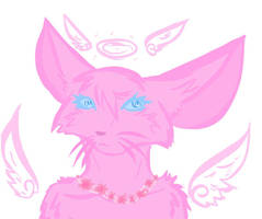 Pink angel cat selling for 10 points open! :) by Cassielink